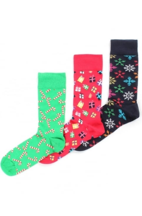 3 Pack Men's Holiday Socks Box Set
