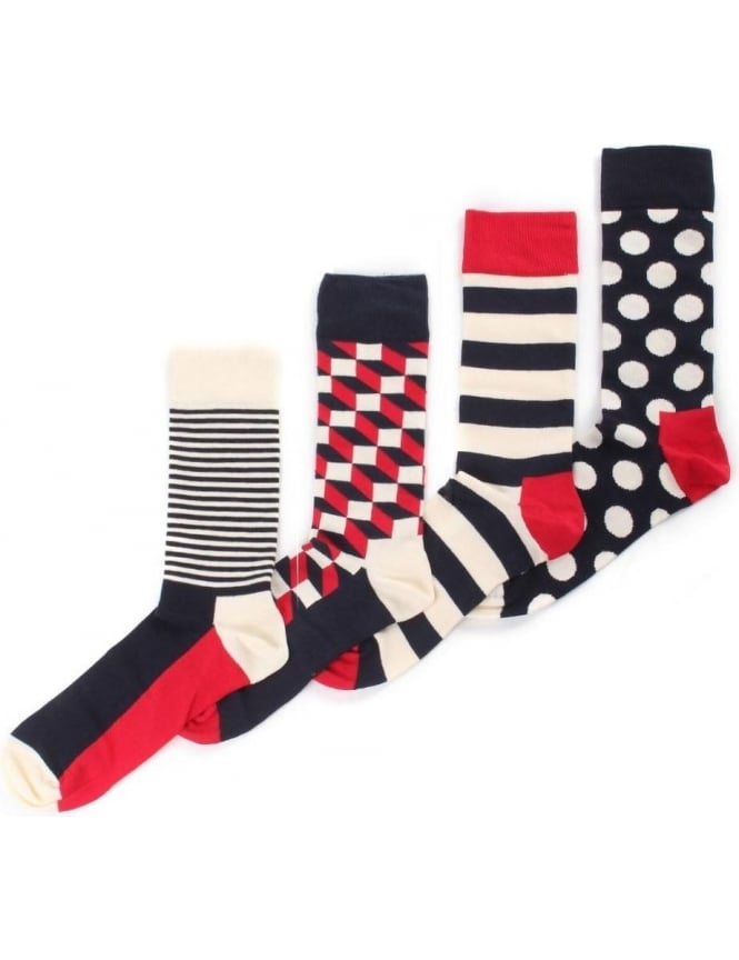 Happy Socks 4 Pack Men's Big Dot Socks