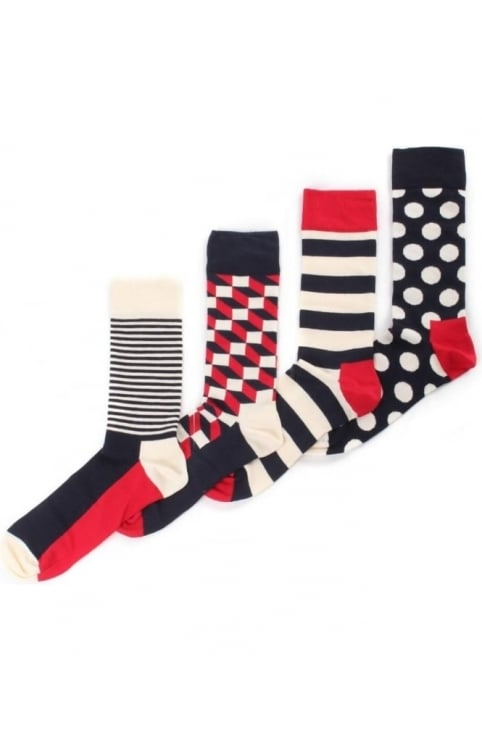 4 Pack Men's Big Dot Socks