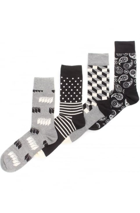4 Pack Men's Optic Socks