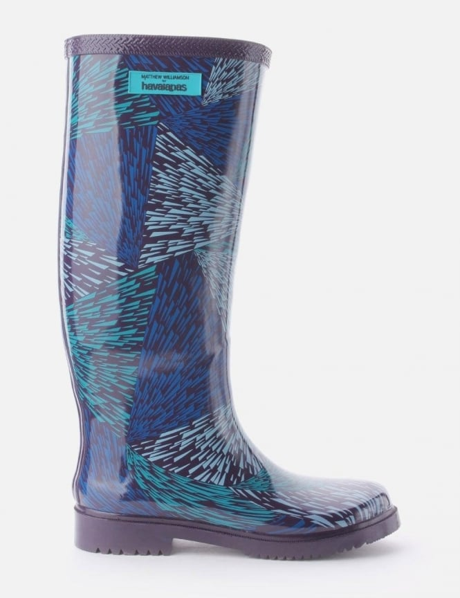 Havaianas Digital Rain Print Women's Welly Navy