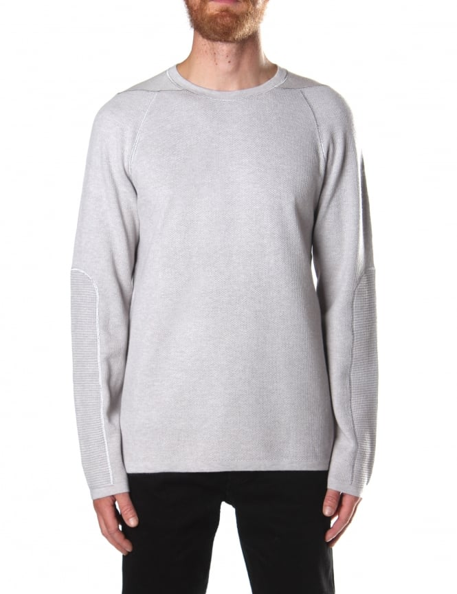 Helmut Lang Men's Waffle Crew Neck Sweater