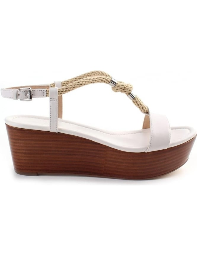 White Holly Flatform Kors Wedge Sandal Women's Michael oWdCEQrexB