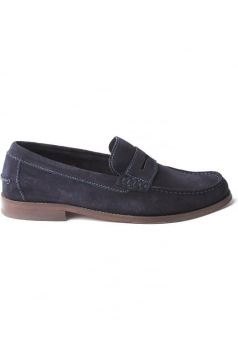 Augusta Men's Suede Loafer Navy