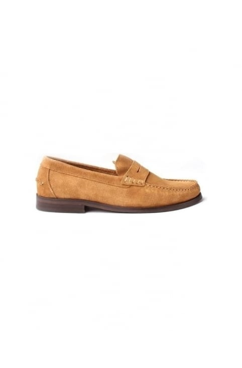 Augusta Men's Suede Loafer Camel