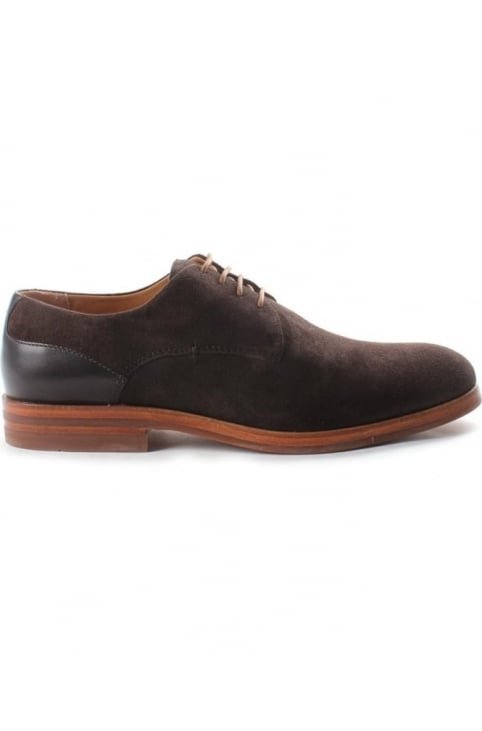 Enrico Men's Suede Derby Shoe Brown