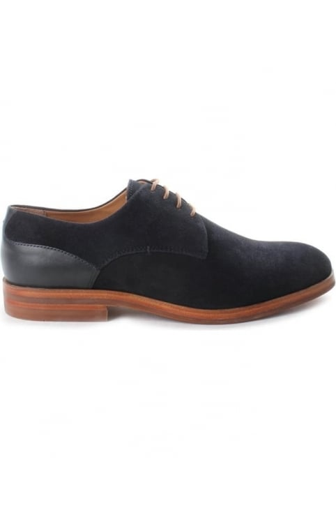 Enrico Men's Suede Derby Shoe Navy