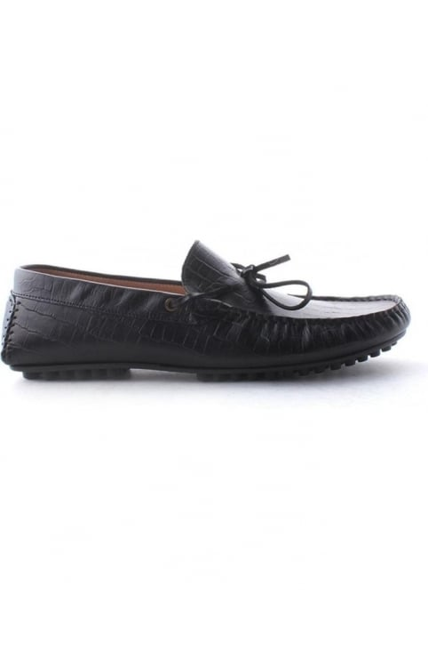 Felipe Men's Croc Tassle Loafer Shoe Black