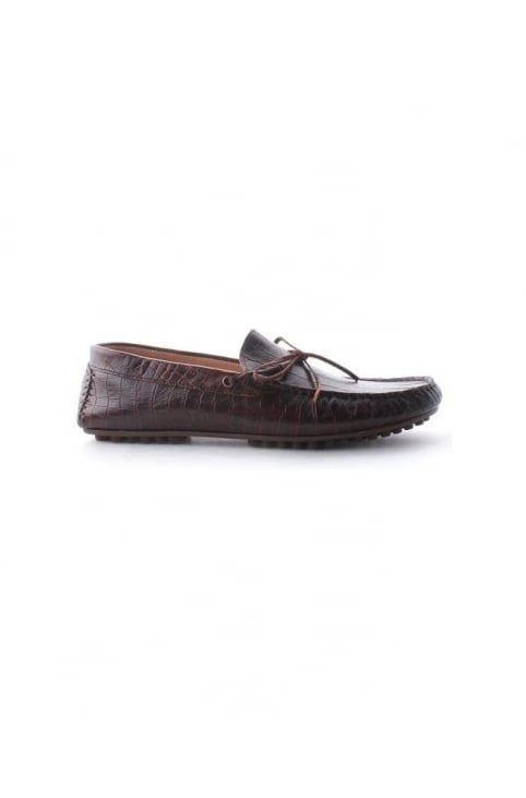 Felipe Men's Croc Tassle Loafer Shoe Brown