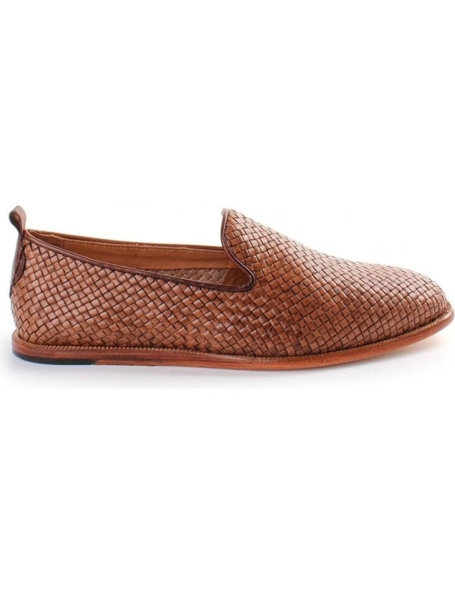 Hudson Ipanema Woven leather Men's Slip On Shoe Tan