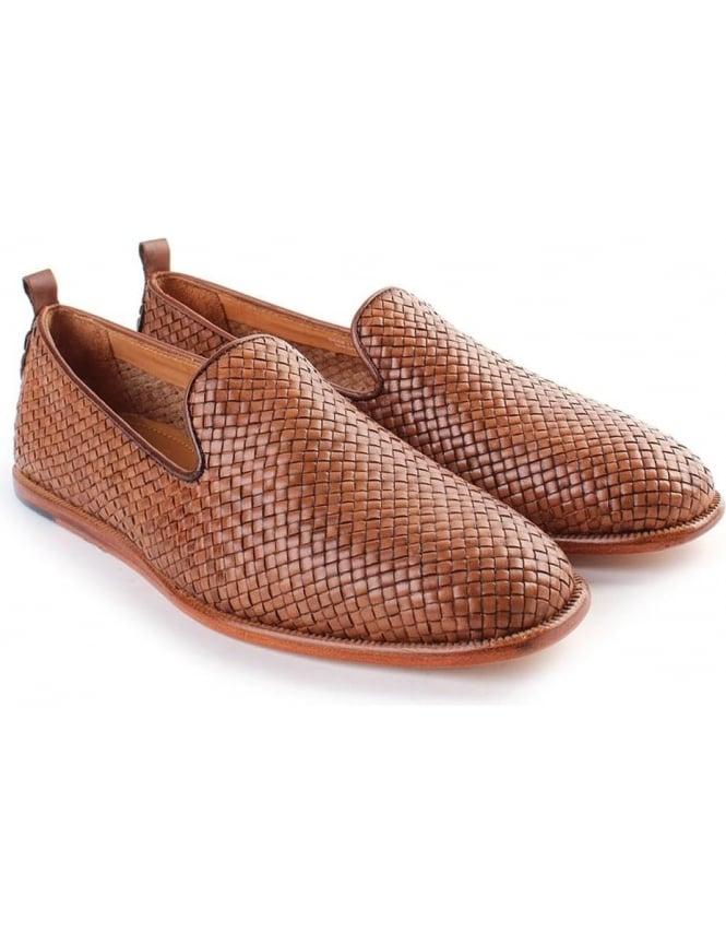 6d435d2a18d7d4 Hudson Ipanema Woven leather Men s Slip On Shoe Tan