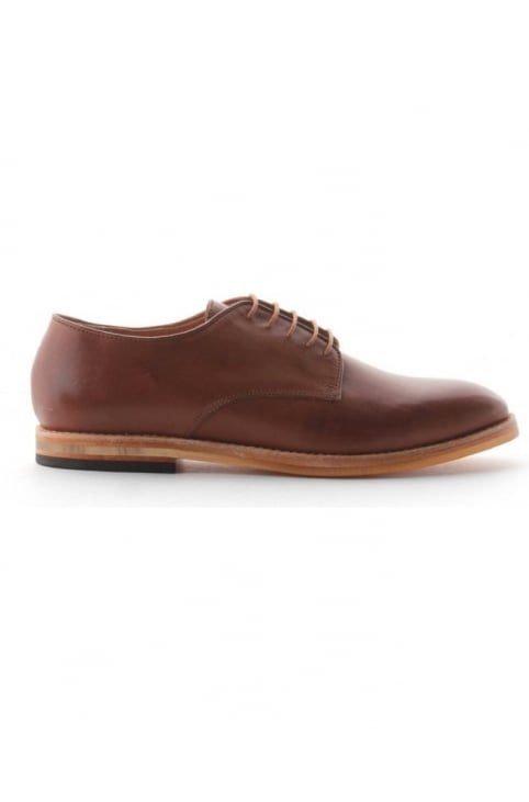 Leather Laced Men's Shoes Tan