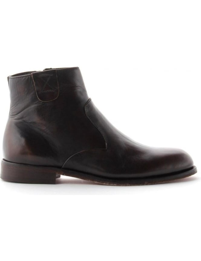 Hudson Leather Zip Up Men's Ankle Boot