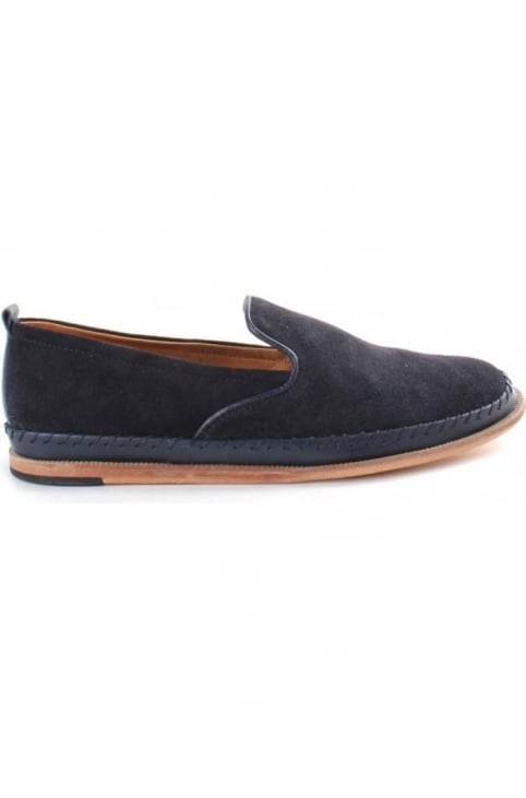 Hudson Macuco Suede Men's Slip On shoe Navy