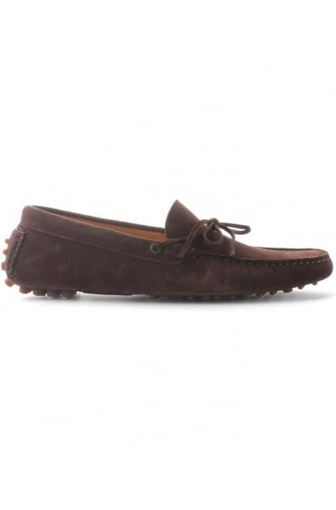 Ricardo Men's Suede Driving Shoes Brown