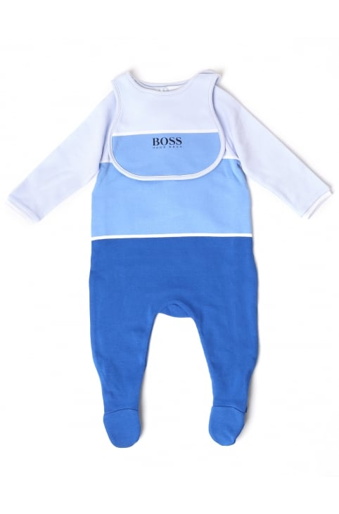 Baby Boys Pyjamas And Bib Set