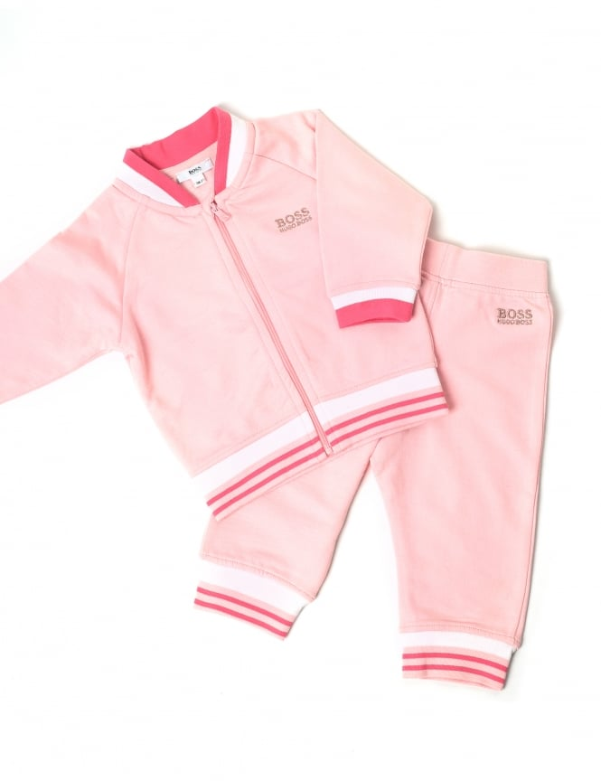 d84ad1a9f007b Hugo Boss Baby Girl Zip Through Tracksuit