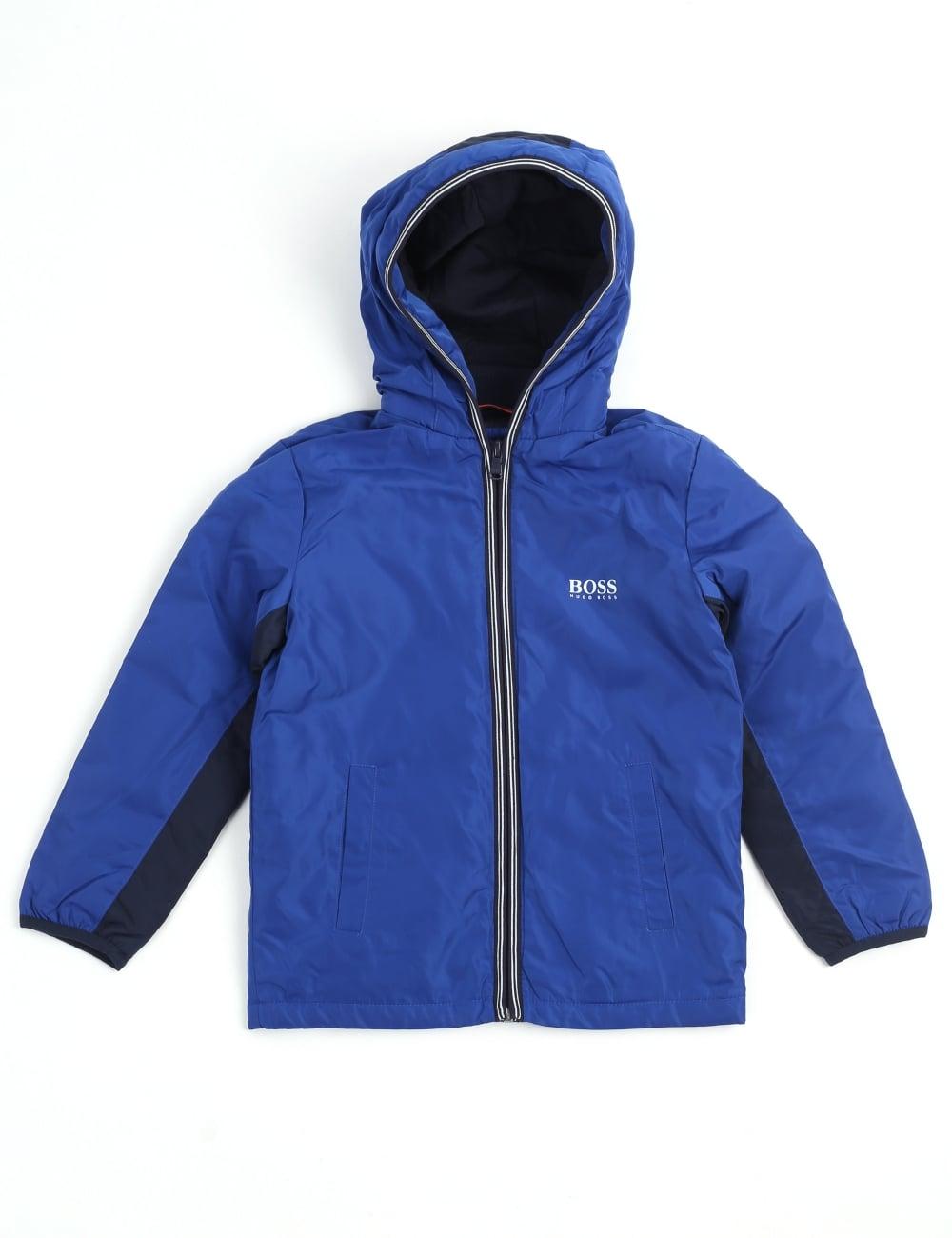 5e124eec6bc7 Hugo Boss Boys Youth Zip Through Hooded Jacket