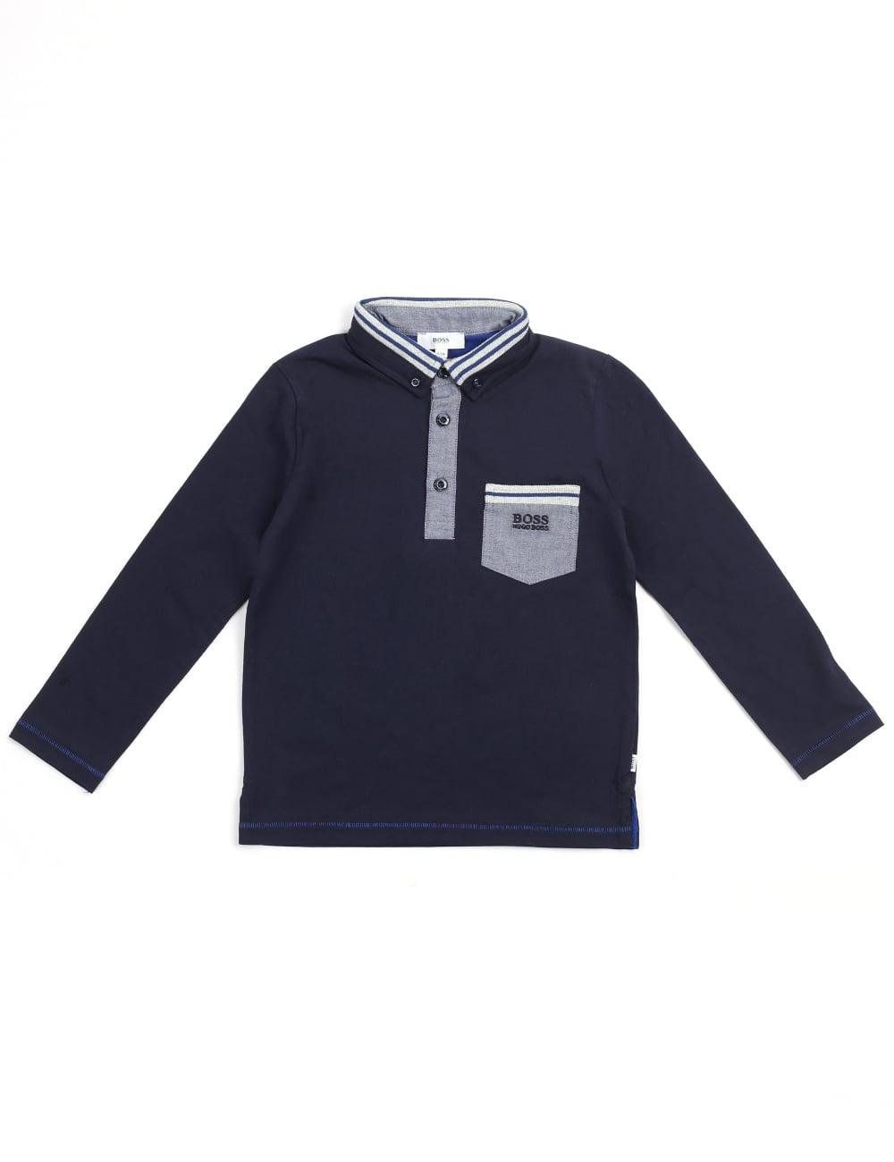 264592f43 Hugo Boss Youth/Boys Long Sleeve Polo Top