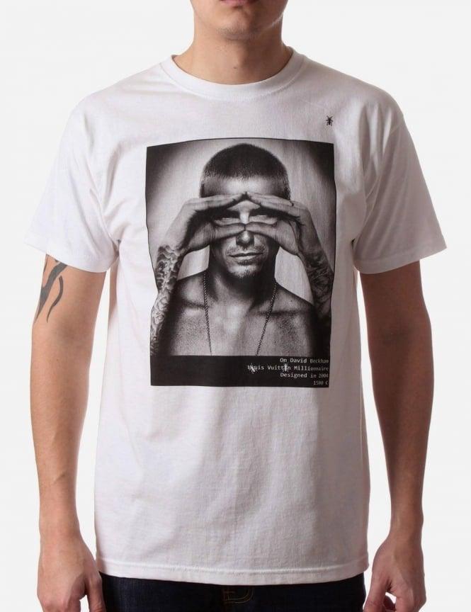 David beckham photo men 39 s print t shirt white for David beckham t shirt brand