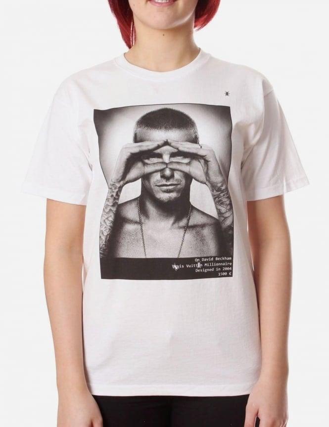 David beckham photo women 39 s print t shirt white for David beckham t shirt brand