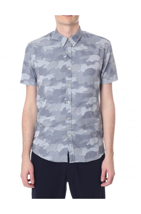 Masiej Men's Short Sleeve Camo Shirt