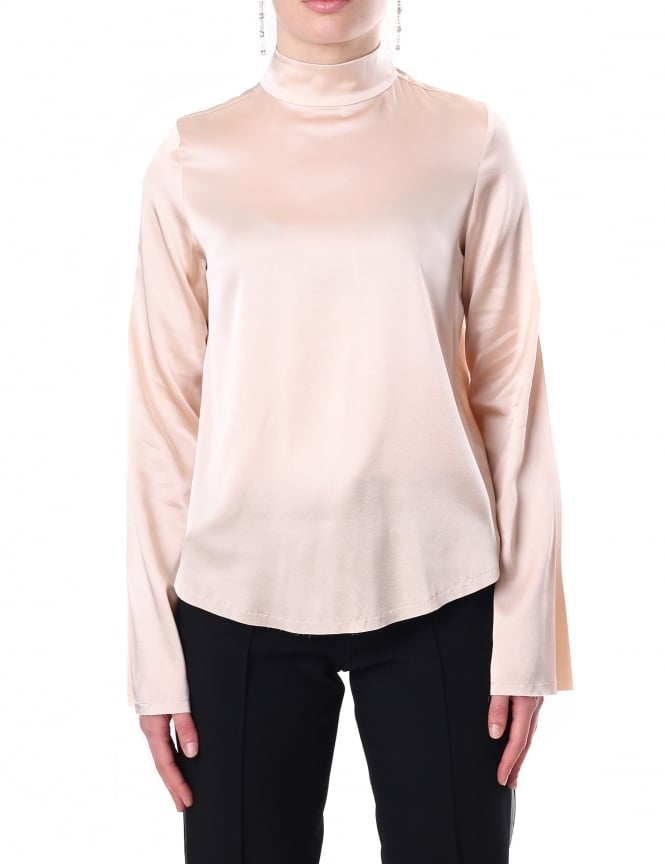 Kendall + Kylie Oversized Women's Mock Neck Top