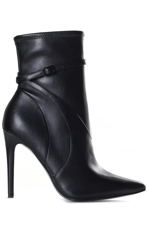 Women's Autum Strappy Detail Calf Leather Boot