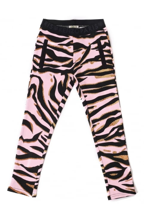 Girls Cheyenne Tiger Stripe Jeggings