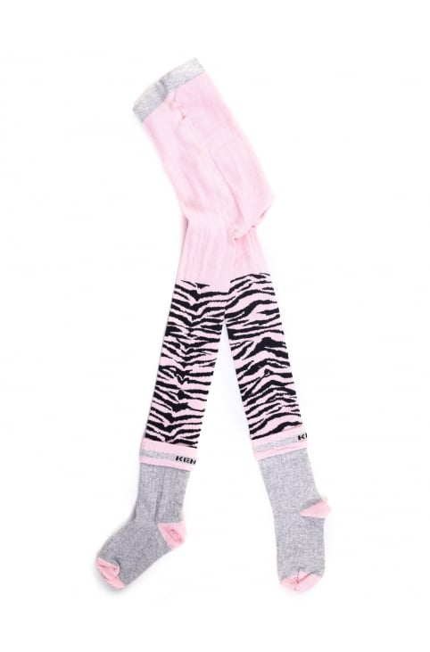 Girls Tiger Stripe Tights