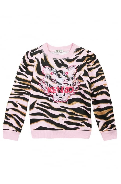 Girls Tiger Stripes 10 Sweat Top