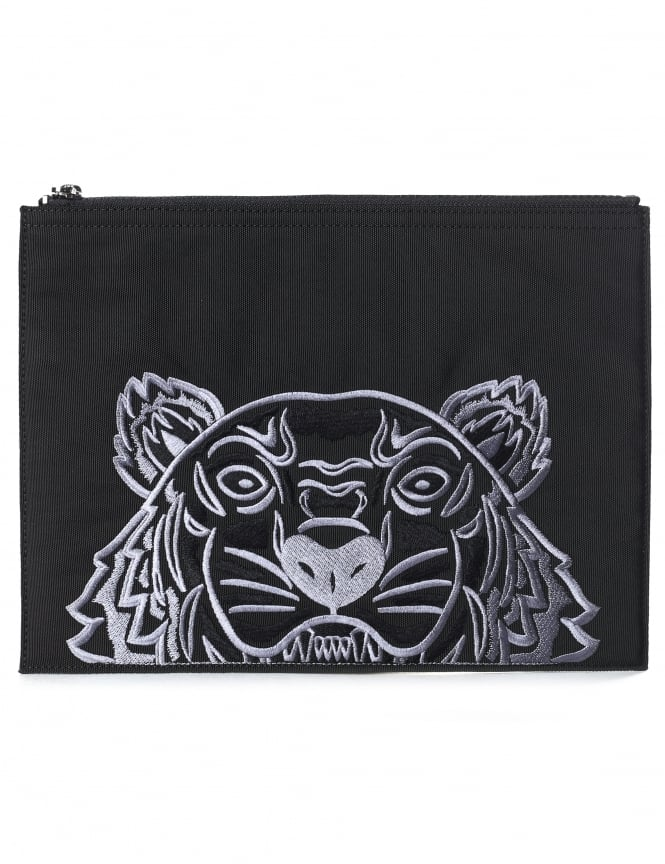 Kenzo Men's Canvas Tiger A4 Pouch