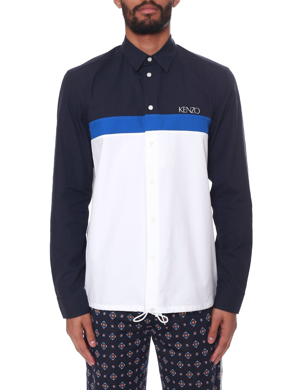 b66cf299 Kenzo Men's Drawstring Casual Fit Shirt