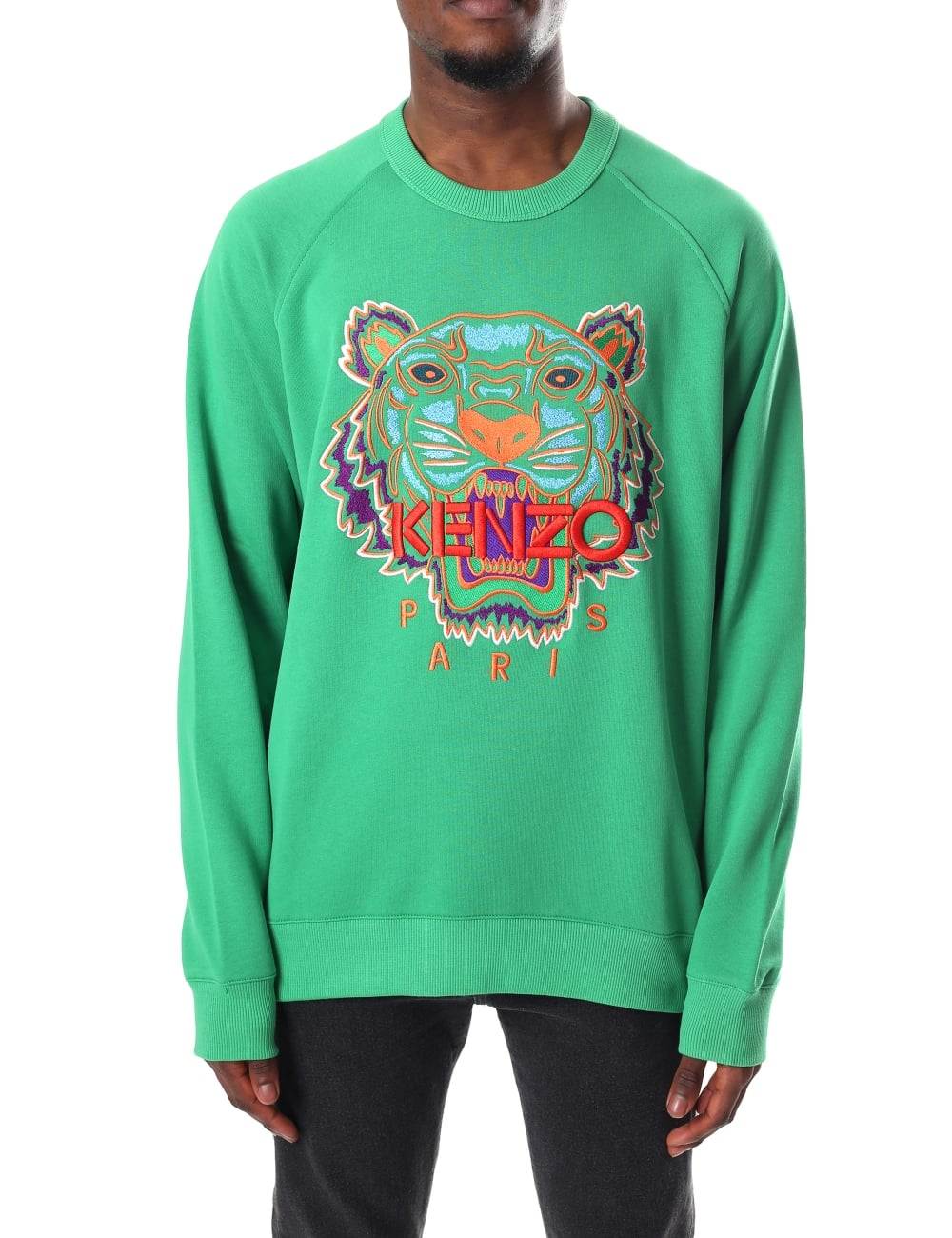 e75bf0fde595 Kenzo Men's Long Sleeve Tiger Raglan Sweatshirt