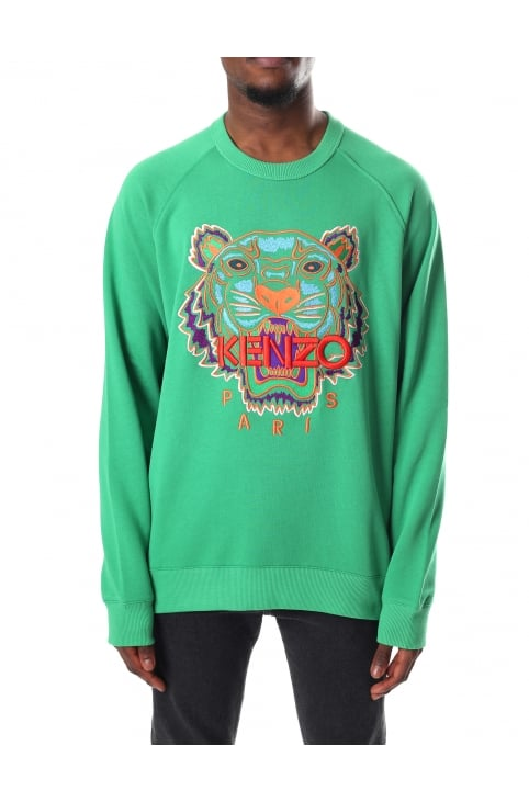 Men's Long Sleeve Tiger Raglan Sweatshirt