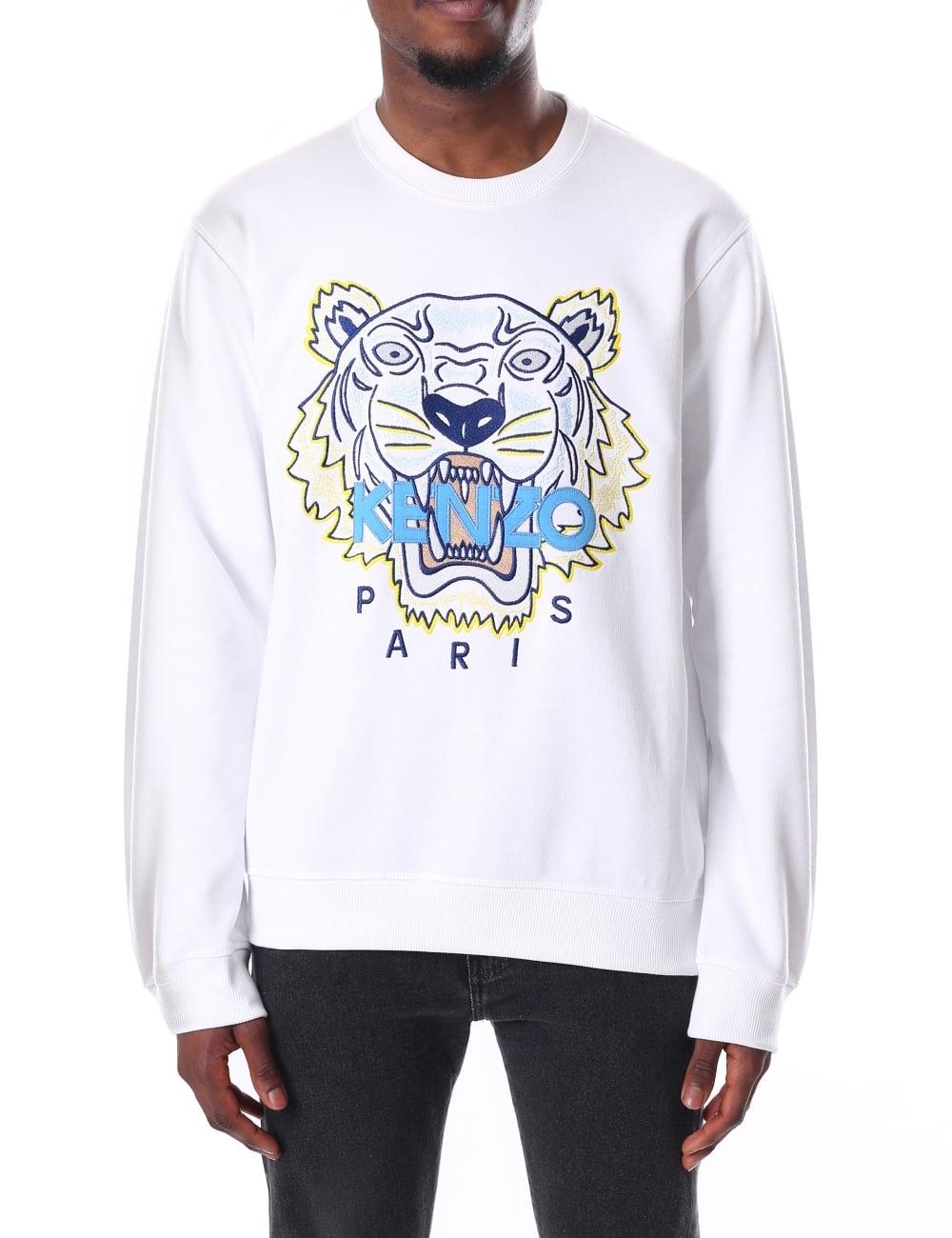 af0c41f2f730 Kenzo Men's Long Sleeve Tiger Sweatshirt