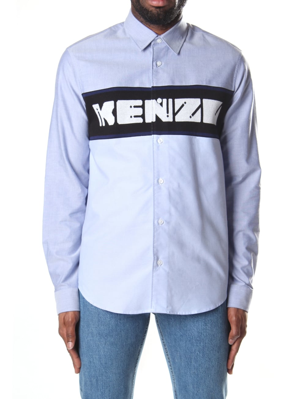 Kenzo Men s Oxford Knitted Shirt 8a7255f19