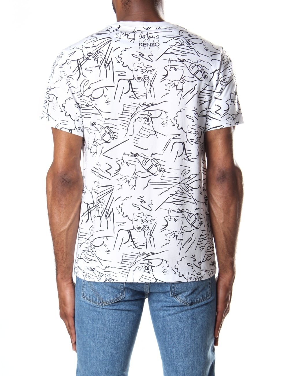 f349ae61 Kenzo Men's Short Sleeve Sketches Tee