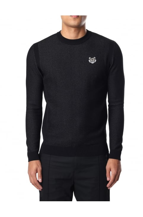 Men's Tiger Crest Mesh Sweat Top