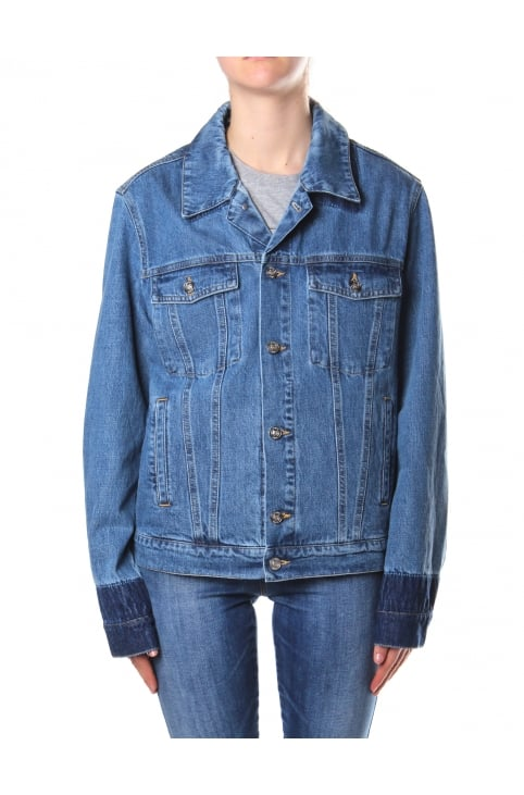 Unisex Button Up Denim Jacket