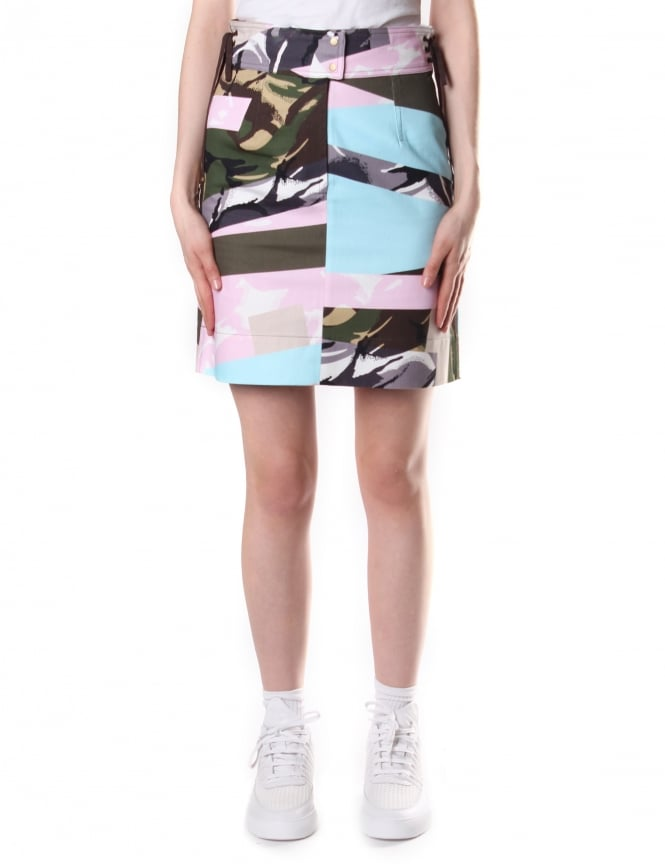 Kenzo Women's Broken Camo Mini Skirt