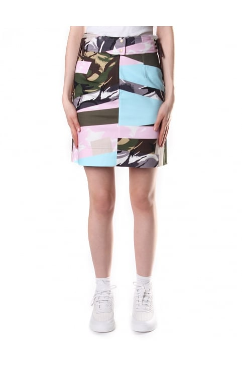 Women's Broken Camo Mini Skirt