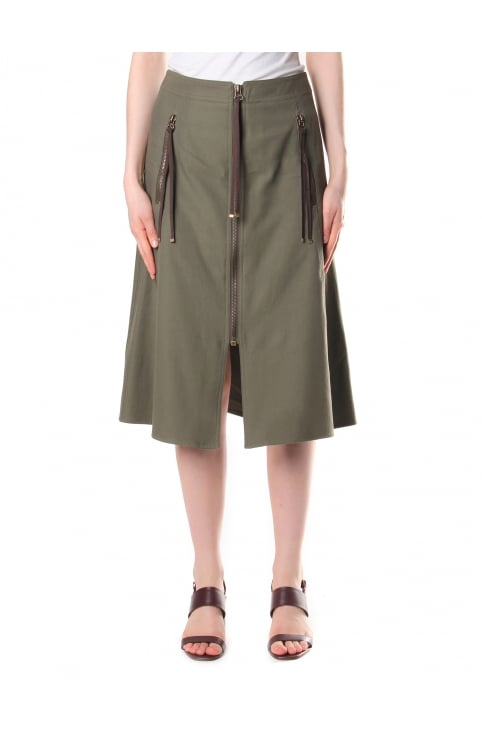 Women's Cotton A-Line Skirt