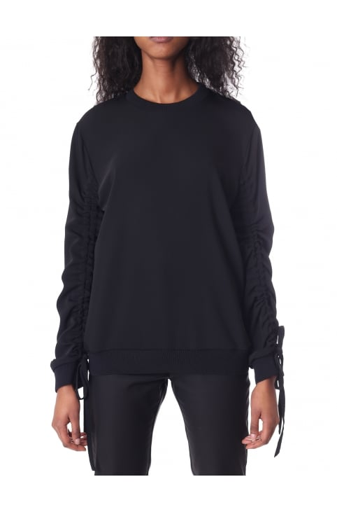 Women's Gathered Sleeves Hyper Sweat Top