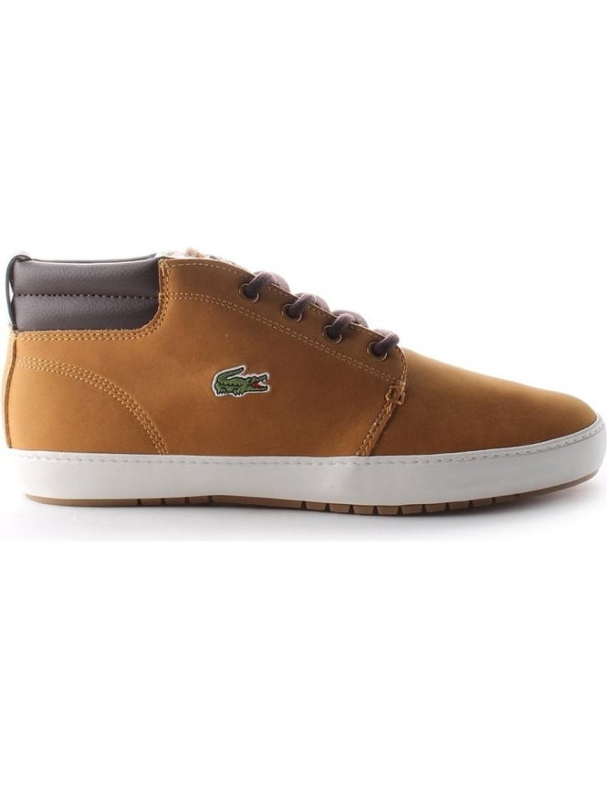 16d2d9aa9 Lacoste Ampthill Terra Men s Leather Trainers Dark Tan