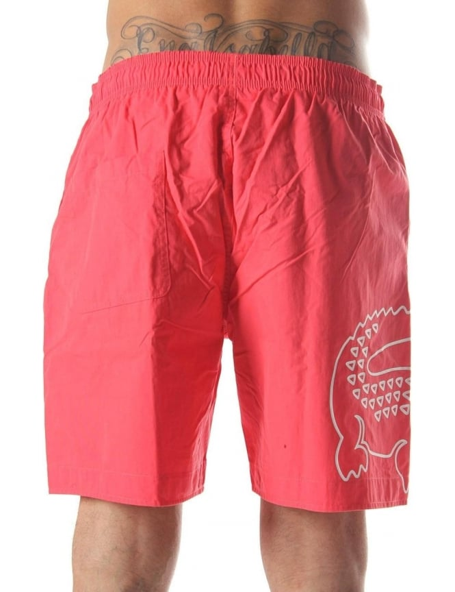 9b0d329385ad7 Crocodile Print Men s Swim Shorts Orange
