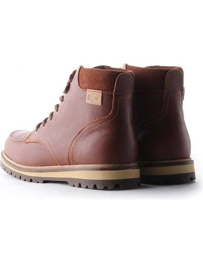 meilleures baskets 80cf8 9dc43 Lacoste Montbard Hi Top Men's Boots Tan