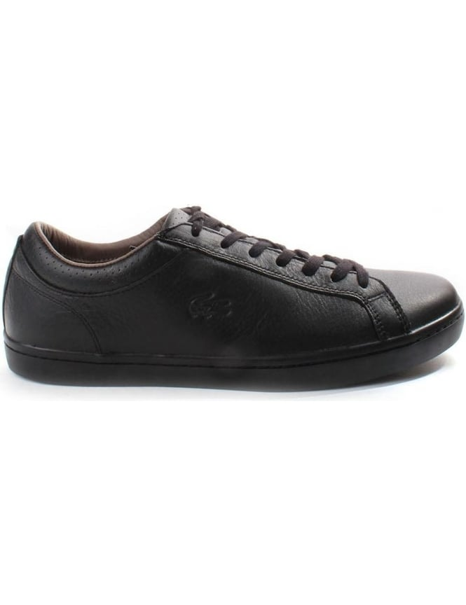 Lacoste Straightset Embossed Logo Men's Lace Up Trainer
