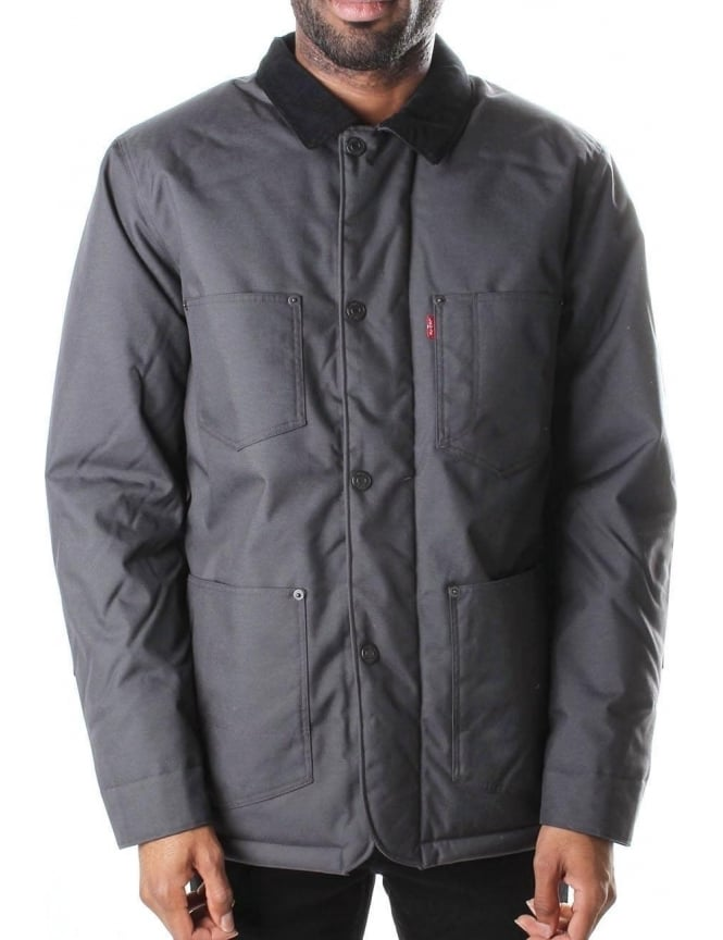 Levis Utility Thermore Black Hooded Men's Coat Ar8wqAga