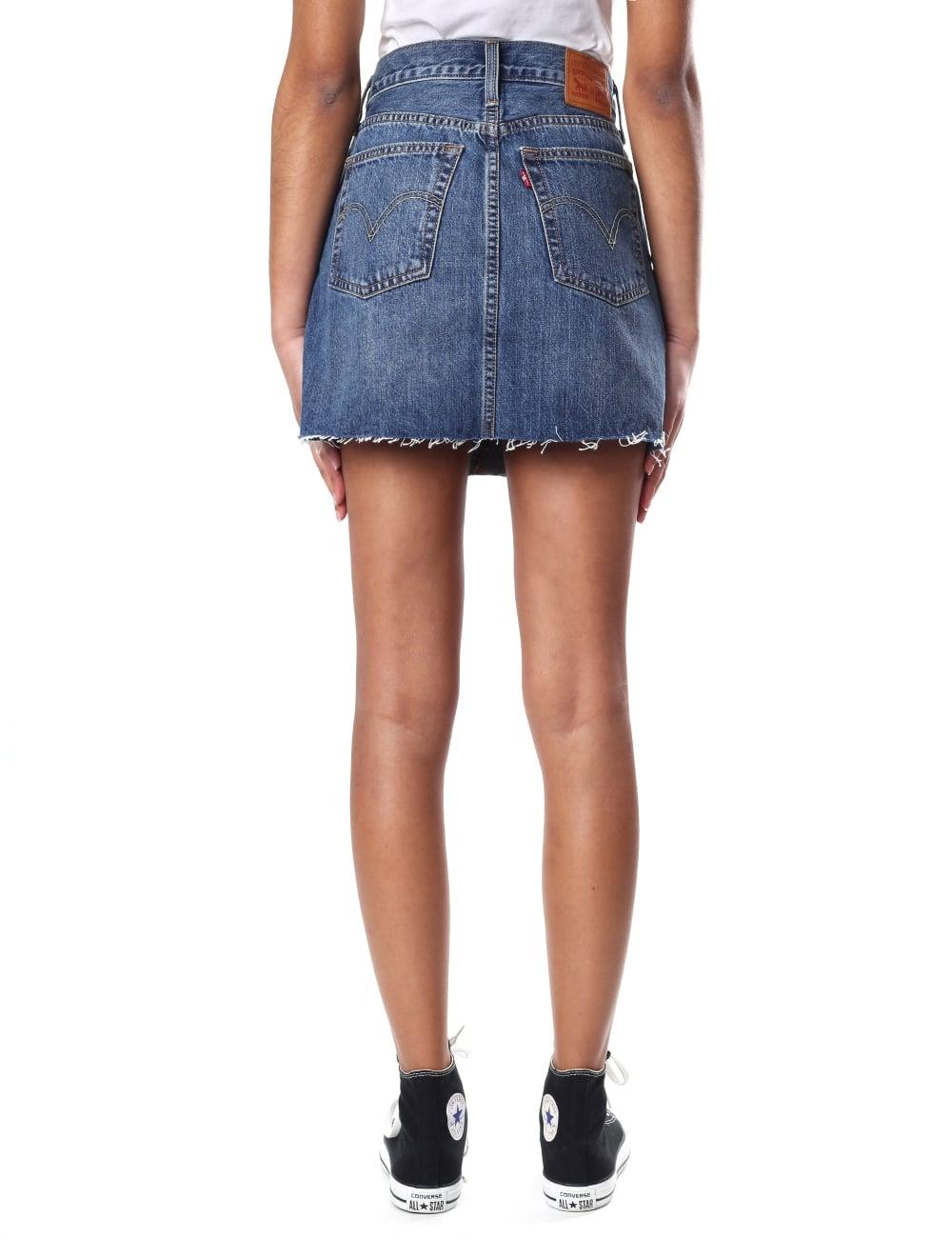 2fc73feffb Levi s Deconstructed Women s High Waist Women s Skirt